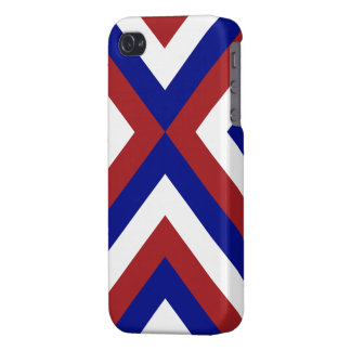 Red, White, and Blue Chevrons Cover For iPhone 4