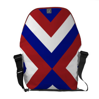 Red, White, and Blue Chevrons Courier Bags