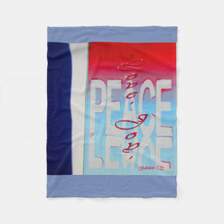 Red White and blue Christian blanket