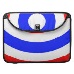 Red, white and blue circles sleeve for MacBooks