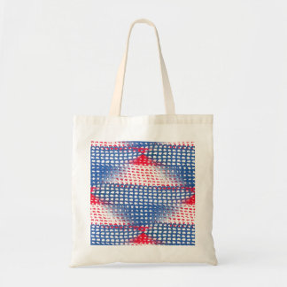 Red White and Blue Crocheted Look on Budget Tote