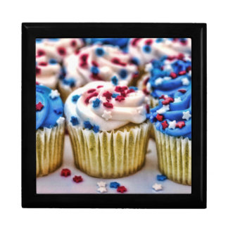 Red, White and Blue Cupcake Jewelry Boxes