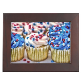 Red White and Blue Cupcakes Keepsake Boxes