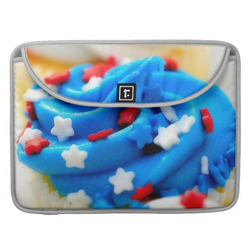 Red White and Blue Cupcakes MacBook Pro Sleeve