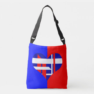 Red white and blue custom bag tote bag