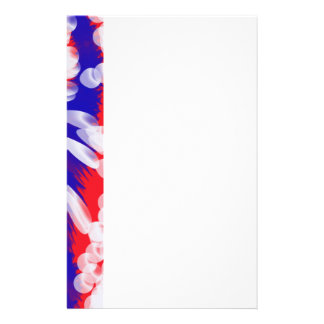 red white and blue customised stationery