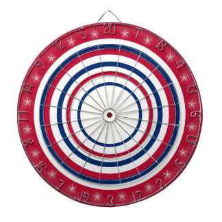 Red White and Blue Dartboard