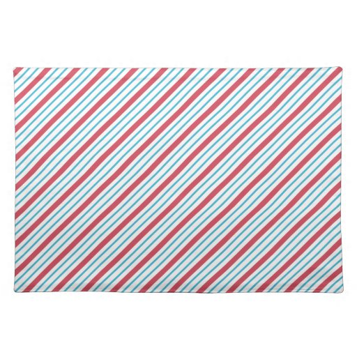 Red, White, and Blue Diagonal Stripes Placemat
