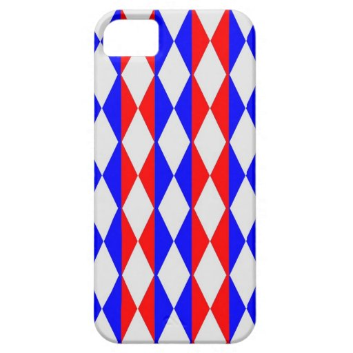 Red, White And Blue Diamonds iPhone 5/5S Covers