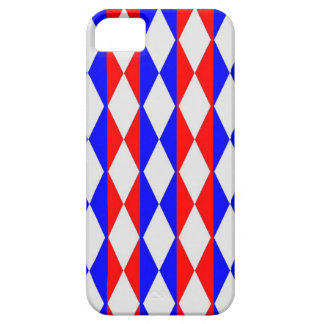 Red, White And Blue Diamonds Case For The iPhone 5