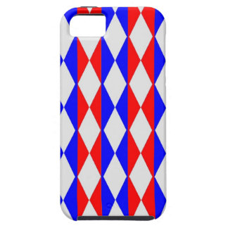Red, White And Blue Diamonds iPhone 5 Covers