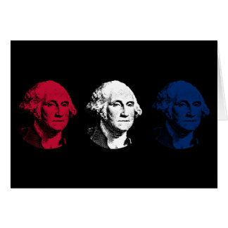 Red, White, and Blue -- George Washington Card