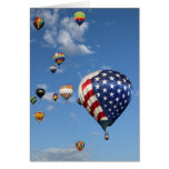 Red, White and Blue Hot Air Balloon Greeting Card