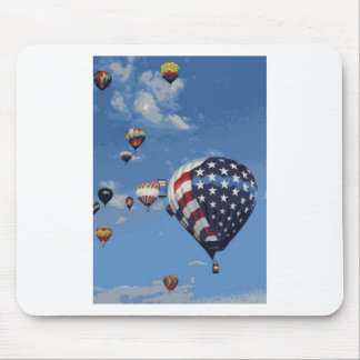 Red, White and Blue Hot Air Balloon Mouse Pad