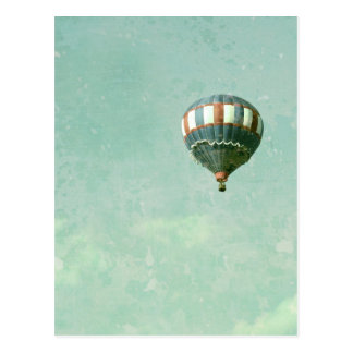 Red White and Blue Hot Air Balloon Postcard