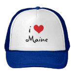 Red White and Blue I Love Maine Cap