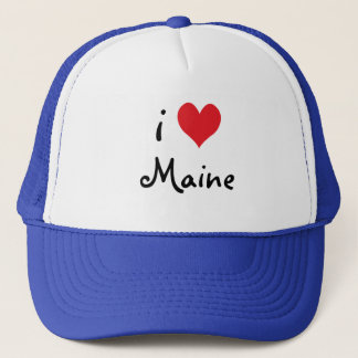 Red White and Blue I Love Maine Trucker Hat