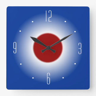 Red White and Blue Illuminated Design> Wall Clock