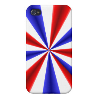 Red White and Blue Case For iPhone 4