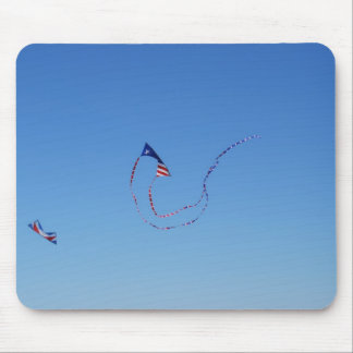 Red White and Blue Kite Mouse Pads