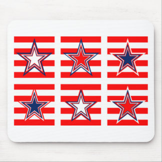red,white and blue mouse pad