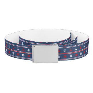 Red White And Blue Nautical Pattern Belt
