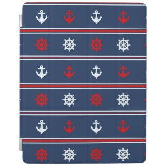Red White And Blue Nautical Pattern iPad Cover