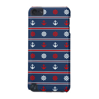 Red White And Blue Nautical Pattern iPod Touch (5th Generation) Covers