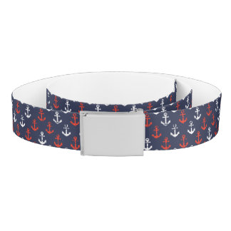 Red White And Blue Navy Pattern Belt