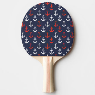Red White And Blue Navy Pattern Ping Pong Paddle