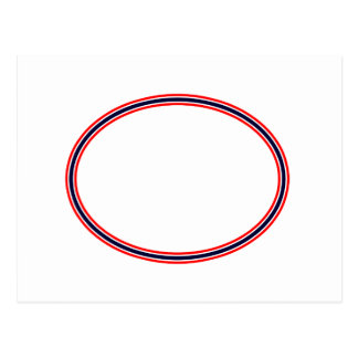 Red White and Blue o The MUSEUM Zazzle Gifts Postcard