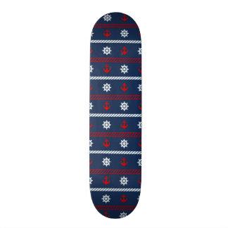 Red White And Blue Ocean Pattern 21.3 Cm Mini Skateboard Deck