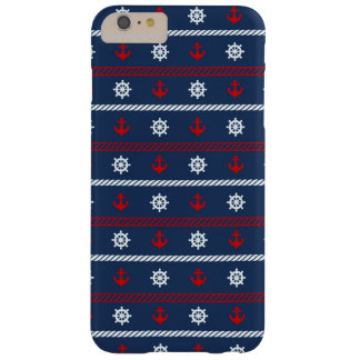 Red White And Blue Ocean Pattern Barely There iPhone 6 Plus Case
