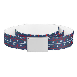 Red White And Blue Ocean Pattern Belt