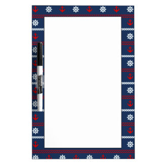 Red White And Blue Ocean Pattern Dry Erase Board