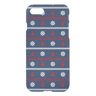 Red White And Blue Ocean Pattern iPhone 8/7 Case