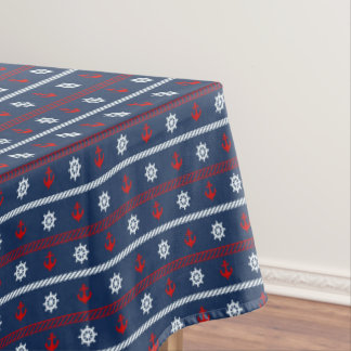 Red White And Blue Ocean Pattern Tablecloth