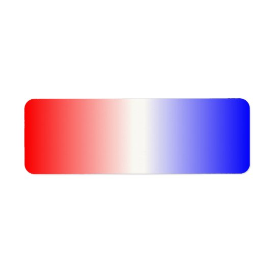 Red White and Blue Ombre Return Address Label