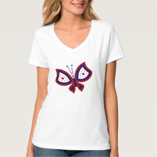 Red White and Blue Patriotic Butterfly Shirt