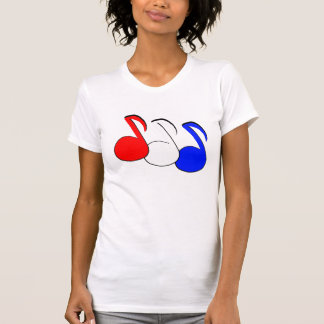 Red, White, and Blue Patriotic Eighth Notes TShirt
