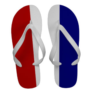 Red White and Blue Patriotic Flip-Flops