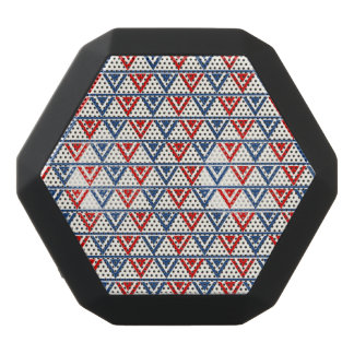 Red, White and Blue Patriotic Geometric Abstract