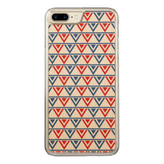 Red, White and Blue Patriotic Geometric Abstract Carved iPhone 8 Plus/7 Plus Case