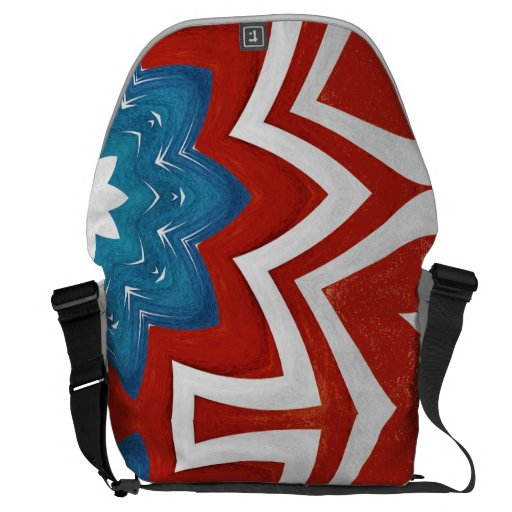 red, white and blue patriotic messenger bag