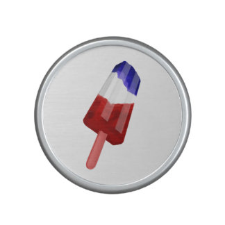 Red, White And Blue Patriotic Popsicle Bluetooth Speaker