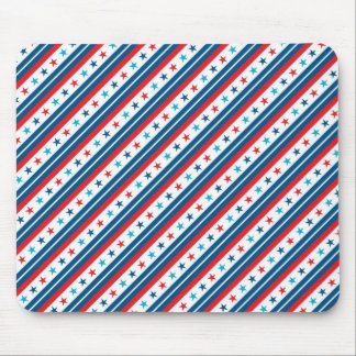 Red White and Blue Patriotic Star Mousepads