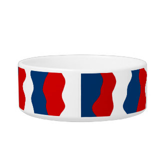 Red, White and Blue Pattern Pet Bowls