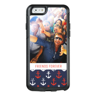 Red White And Blue Pattern | Your Photo & Text OtterBox iPhone 6/6s Case