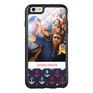 Red White And Blue Pattern | Your Photo & Text OtterBox iPhone 6/6s Plus Case