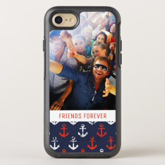 Red White And Blue Pattern | Your Photo & Text OtterBox Symmetry iPhone 8/7 Case